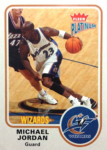 02-03 Michael Jordan Fleer Platinum Wizards