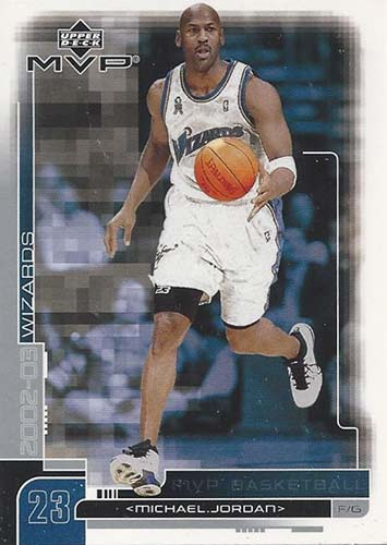 02-03 Michael Jordan Upper Deck MVP Wizards