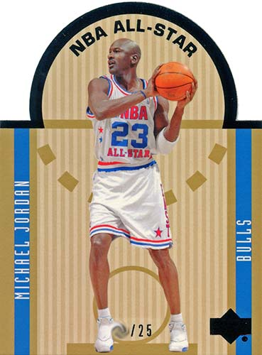 03-04 Michael Jordan Upper Deck Die Cut All-Star Black