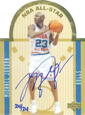 03-04 Michael Jordan Upper Deck Die Cut All-Star Buyback Autograph