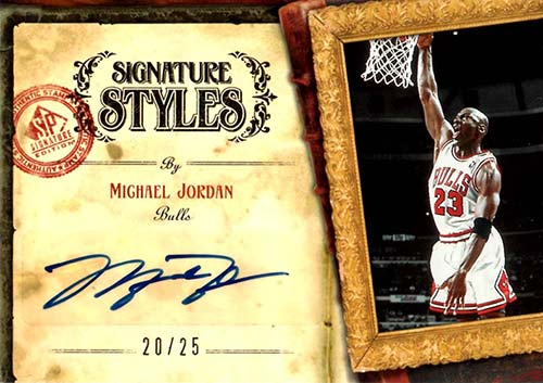 06-07 Michael Jordan Upper Deck Auto On Sticker