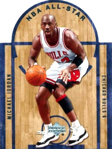 07-08 Upper Deck Michael Jordan Die Cut All Star