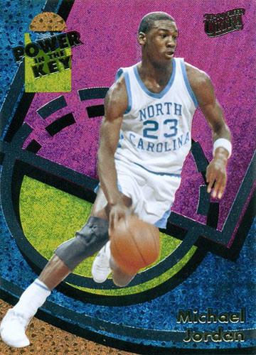 13-14 Michael Jordan Power in the Key Fleer Retro