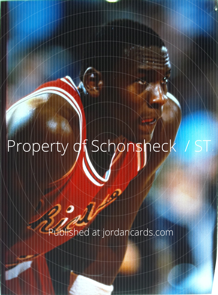 1984-85 Star Co Michael Jordan All-Star Production Image