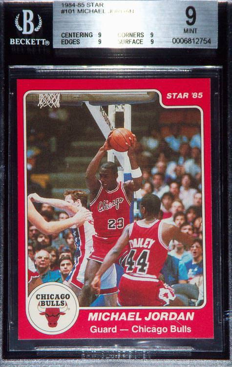 84-85 Michael Jordan Star Co #101 BGS 9 Franco Cugge