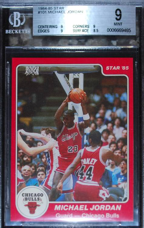 84-85 Michael Jordan Star Co #101 BGS 9 Dino Iacobo
