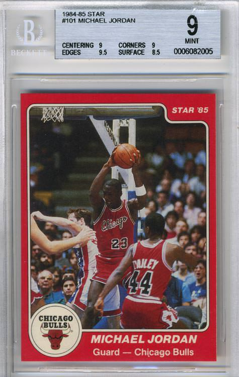 1984-85 Michael Jordan Star Co #101 BGS 9 Joel Rusco