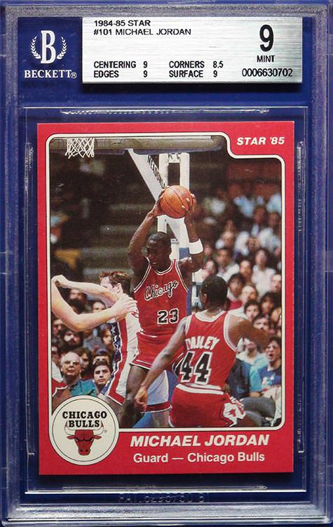 1984-85 Michael Jordan Star Co #101 BGS 9