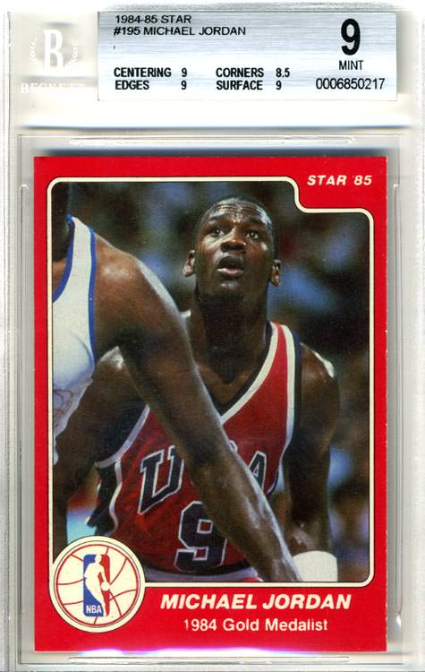 84-85 Michael Jordan Star Co #195 Olympian BGS 9 Joel Rusco