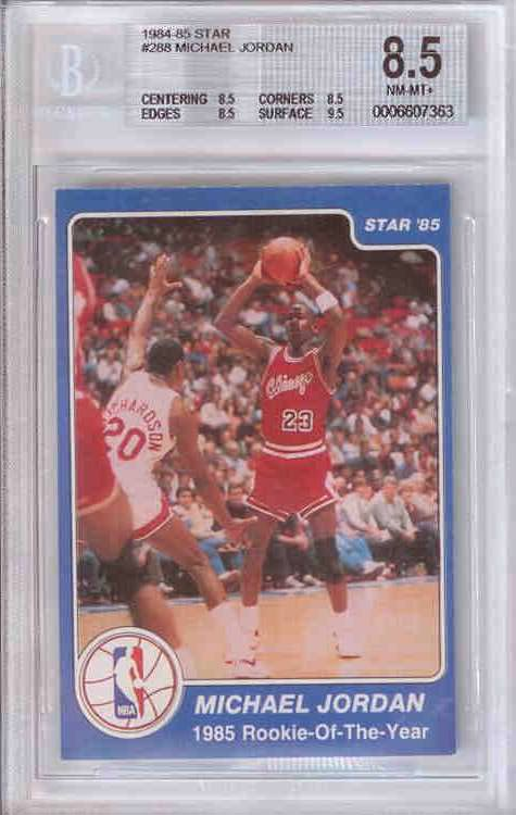 84-85 Michael Jordan Star Co #288 Rookie of the Year BGS 8.5 Jarret Kahn