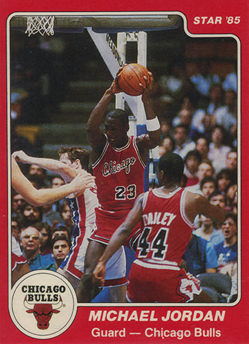 84-85 Michael Jordan Star Co XRC #101