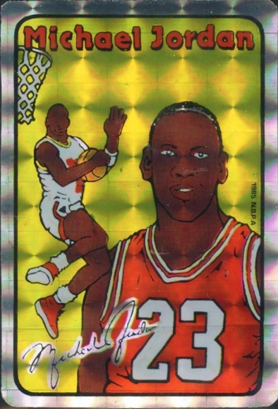 Michael Jordan 85 Prism Jewel Stickers Large Block Variation