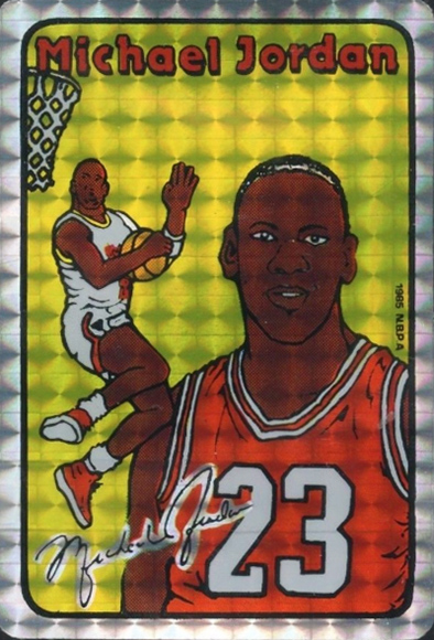 Michael Jordan 85 Prism Jewel Stickers Small Block Variation