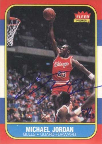 86-87 Michael Jordan Fleer Rookie Card Buy Back Autograph