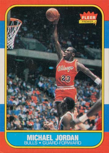 86-87 Michael Jordan Fleer Rookie Card