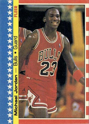87-88 Michael Jordan Fleer 2nd Year Sticker