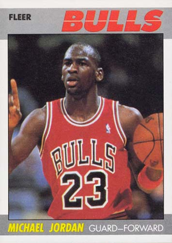 87-88 Michael Jordan Fleer 2nd Year