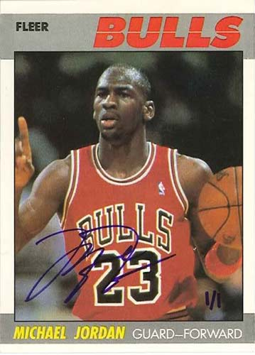 87-88 Michael Jordan Fleer Buy Back Autograph