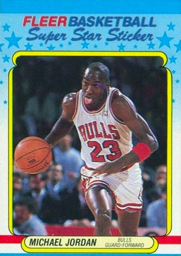 88-89 Michael Jordan Fleer 3rd Year Sticker
