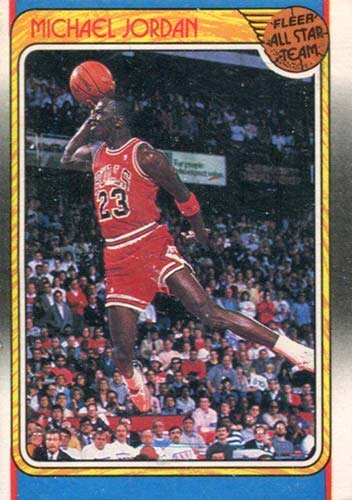 88-89 Michael Jordan Fleer All-Star Free Throw Dunk