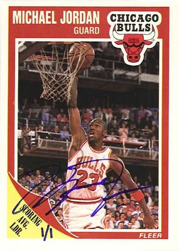 89-90 Michael Jordan Fleer Buy Back Autograph
