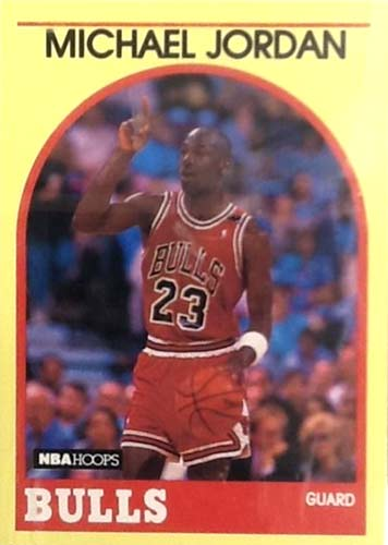 89-90 Michael Jordan Hoops Yellow Sears