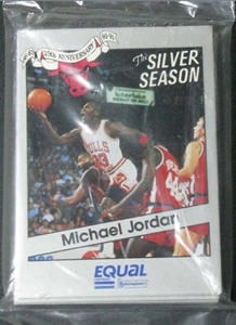 90-91 Michael Jordan Star Co Silver Season Equal Bulls Bag