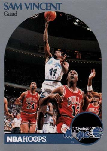 90-91 Sam Vincent Hoops Michael Jordan Wearing Number 12 Jersey