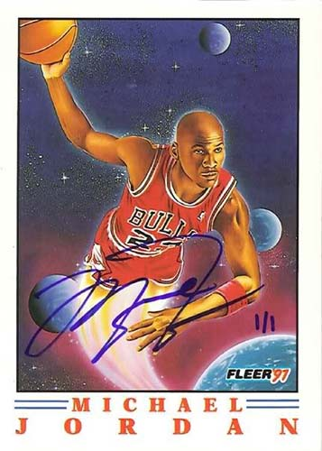 91-92 Michael Jordan Fleer Pro Visions Buy Back Autograph
