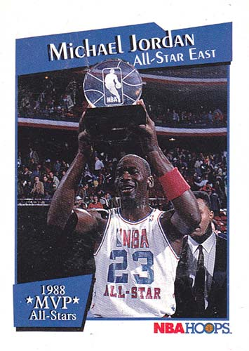 91-92 Michael Jordan Hoops All-Star MVP Award