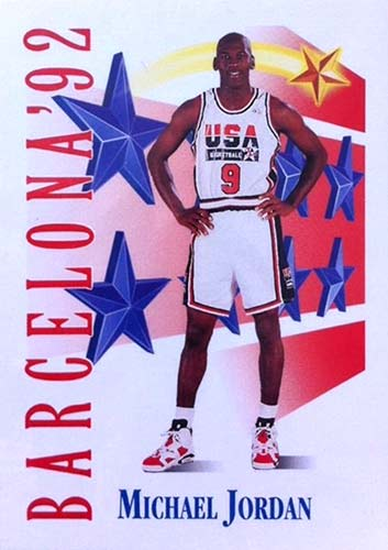 91-92 Michael Jordan Skybox USA Olympic
