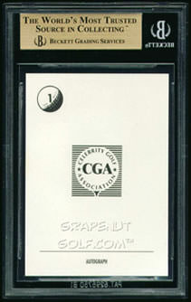91 Caesars Palace Lake Tahoe Heavy Hitters BGS 9.5 Back