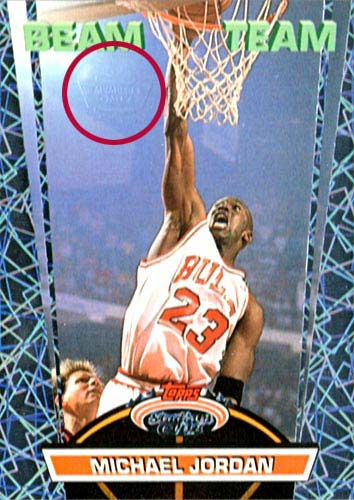 92-93 Michael Jordan Beam Team Members Only Topps Stadium Club Stamp Circled