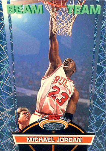 92-93 Topps Stadium Club Michael Jordan Beam Team