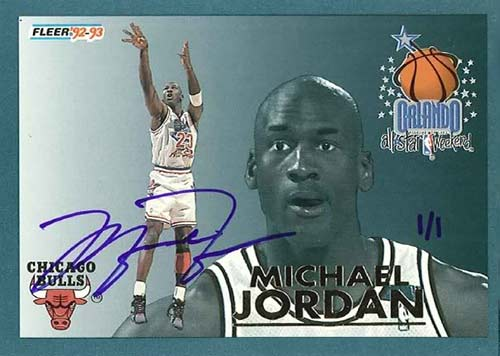 92-93 Michael Jordan Fleer All Star Buy Back Autograph