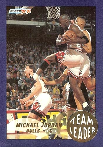 92-93 Michael Jordan Fleer Team Leader