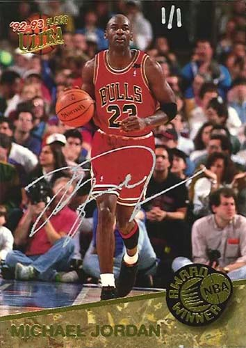 92-93 Michael Jordan Fleer Ultra Award Winner Buy Back Autograph