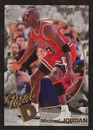92-93 Michael Jordan Total D Fleer