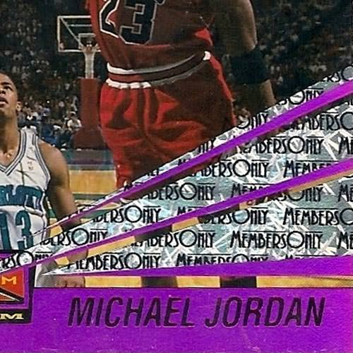 93-94 Michael Jordan Beam Team Members Only Close Up