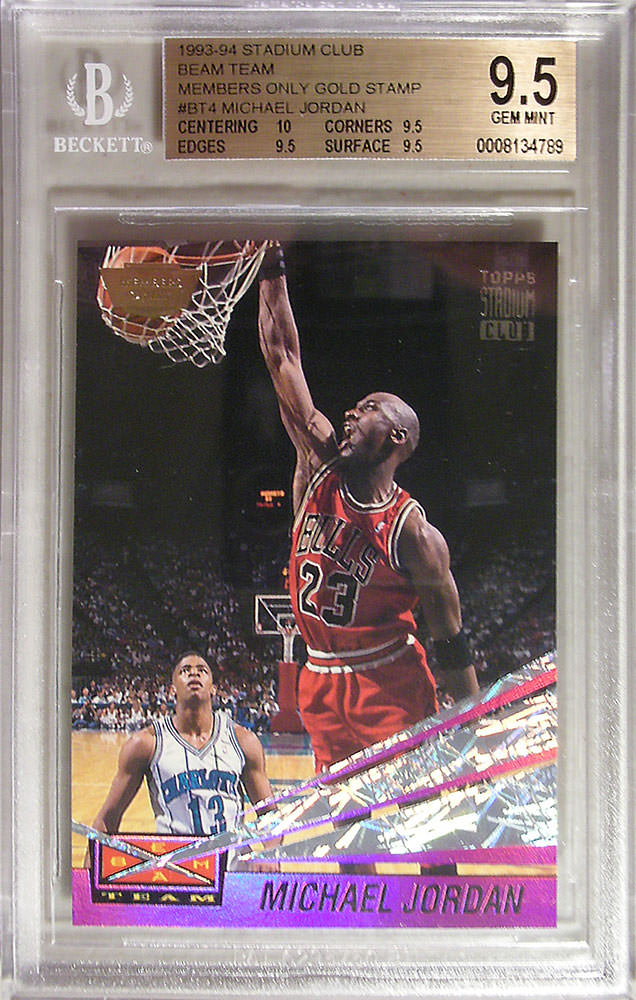 93-94 Michael Jordan Beam Team Members Only Gold Stamp