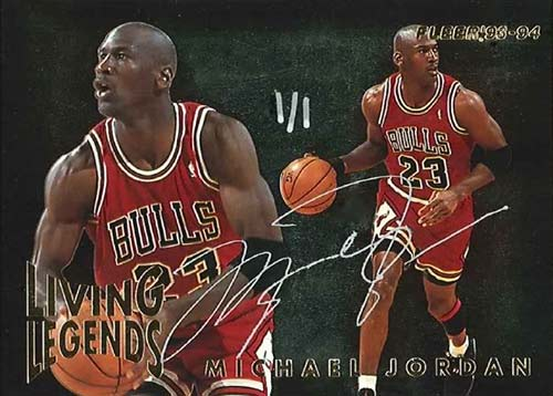 93-94 Michael Jordan Fleer Living Legends Buy Back Autograph