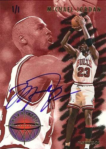 93-94 Michael Jordan Fleer Sharpshooters Buy Back Autograph