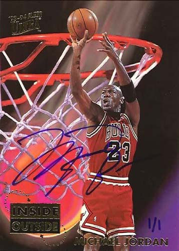 93-94 Michael Jordan Fleer Ultra Inside Outside Buy Back Autograph