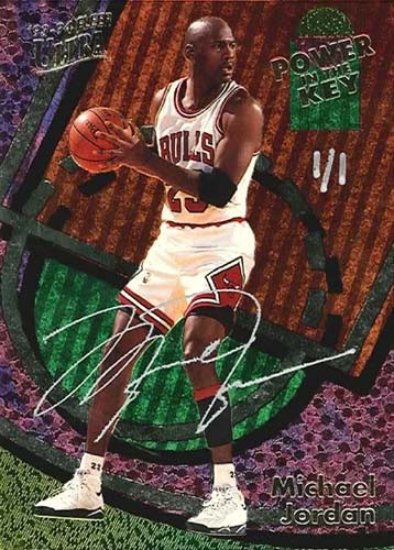 93-94 Michael Jordan Fleer Ultra Power In The Key Buy Back Autograph