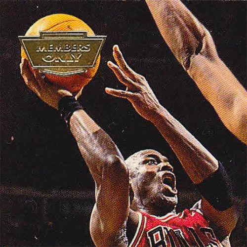 93-94 Michael Jordan Base Card Members Only Close Up