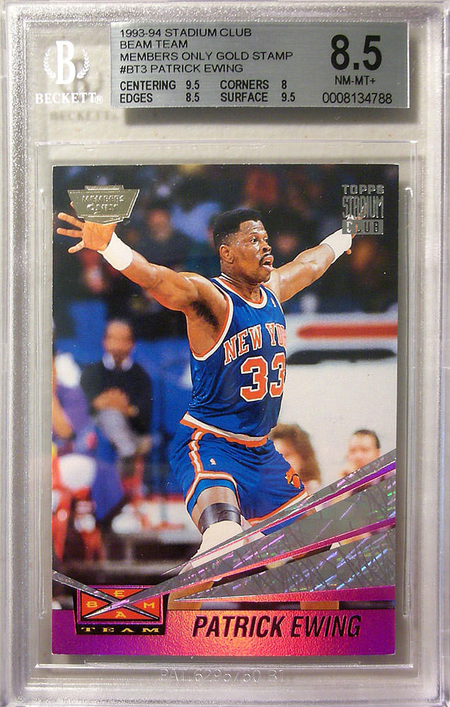 93-94 Patrick Ewing Beam Team Members Only Gold Stamp