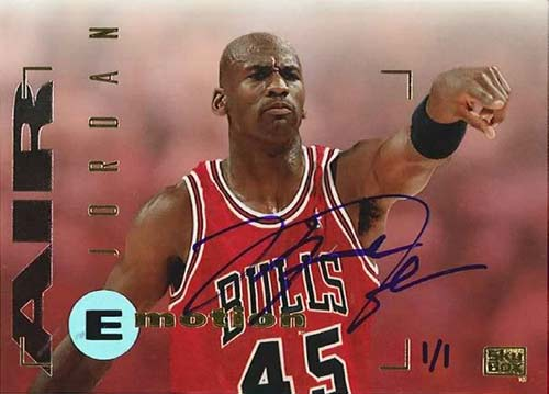 94-95 Michael Jordan Skybox Emotion Buy Back Autograph