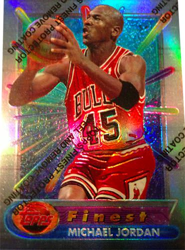 1994-95 Jordan Refractor showing refraction