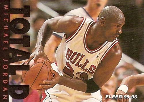 95-96 Michael Jordan Fleer Total D
