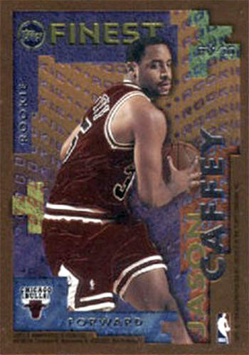 95-96 Jason Caffey Topps Finest Veteran Rookie